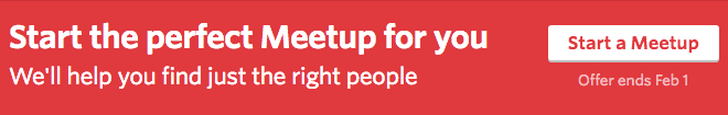 Meetup's Call To Action
